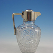 Hukin & Heath Sterling Silver Cut Crystal Claret Jug