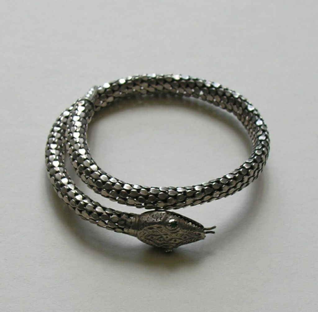 Art Deco Snake Sterling Bracelet