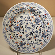 German Porcelain Plate Blau Vogel Muster Blue Birds