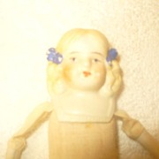 REDUCED 6 1/2 White Bisque head doll