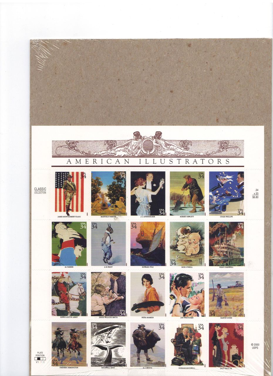 American Illustrators Postage Stamps