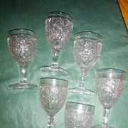 REDUCED Rayed Flower Wine glasses