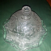 REDUCED Rayed Flower Domed Butter Dish