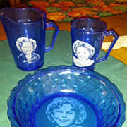 REDUCED Shirley Temple Breakfast set