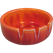 California Original Porcelain Ashtray in Brilliant Tie Dyed Orange 1960's