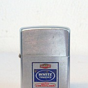 ZIPPO White Trucks Engraved in Blue and Red 1972