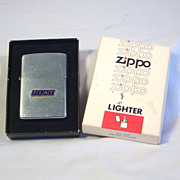 ZIPPO FIAT Automobile Advertiser with Applied Logo 1976