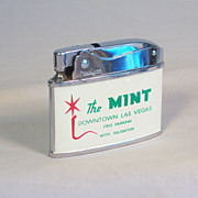 The Mint Las Vegas Japanese Flat Pocket Lighter Ca 1957