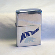 ZIPPO Northwind Pocket Lighter with White Polar Bear on Polished  Chrome 1981