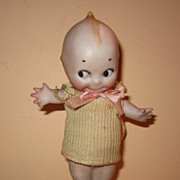 REDUCED Vintage Rose O'Neill Kewpie all bisque doll