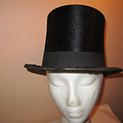 REDUCED Vintage man's beaver top hat theatre costume