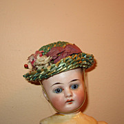 Vintage small straw doll hat
