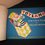 1944 Toyland animated book by Julian Wehr Martha Paulsen