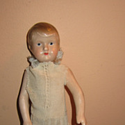 Vintage cabinet size composition doll