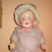 Vintage Arranbee composition cloth mama doll