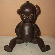 Miniature black baby doll Japan