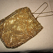 Vintage Whiting Davis mesh purse
