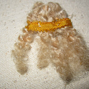 Vintage blond miniature doll wig
