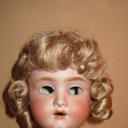 "Antique German bisque head doll ""8"""