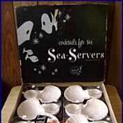 1960's Sea Servers Shrimp Cocktail Hostess Set for 6 Karloff MIB