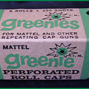 1958 Mattel Greenie Caps 250 Rounds Mint NOS #635