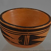 SALE Hopi Bowl or Vase by Myrtle Young Southwest Native Pottery Signed