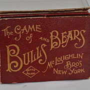 SALE The Game of Bulls and Bears McLoughlin Brothers New York