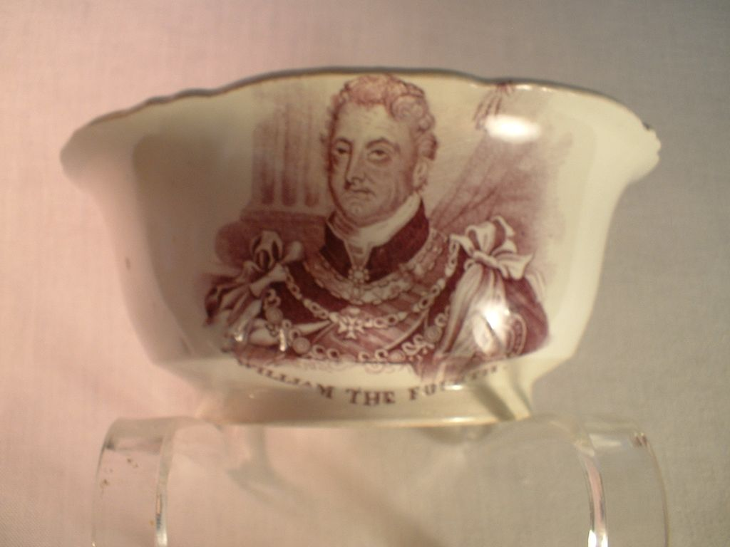 King William IV and Queen Adelaide Coronation Bowl Soft Paste Porcelain