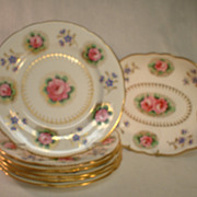 T. Goode and Company China Serving Bowl and 6 Luncheon Plates
