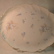 Weimar Germany Fasold and Eichel Platter and 6 Plates