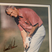 Arnold Palmer Autographed Photo in Earlier Championship Years