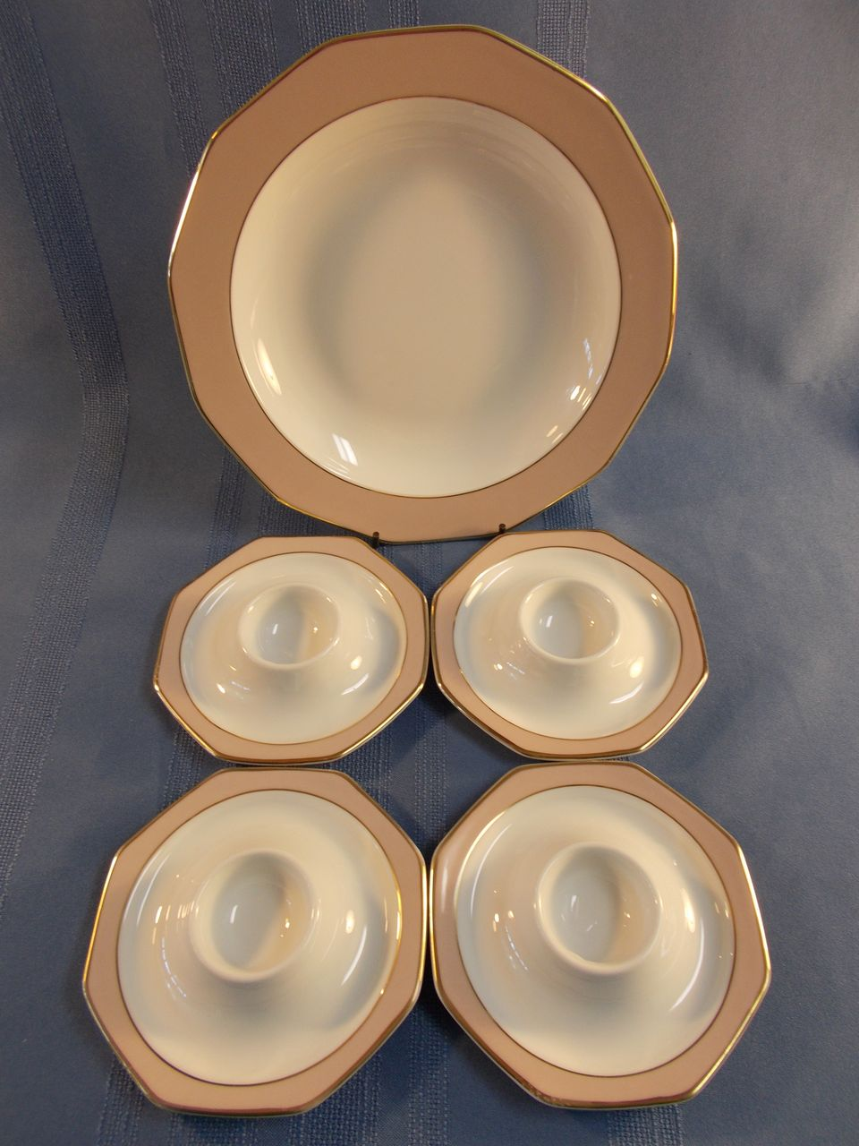 Winterling La Belle Soup Bowl and 4 Egg Saucers