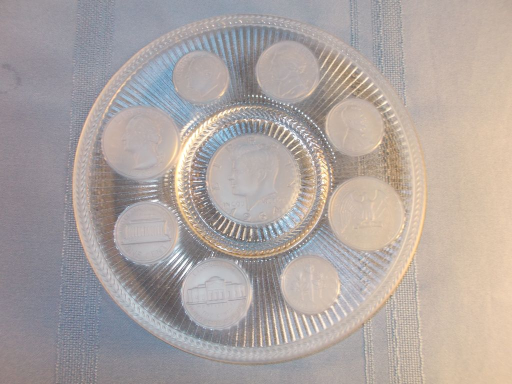 Imperial Glass Coin Plate 71134 With President Kennedy