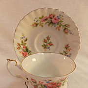 Royal Albert Moss Rose Cup and Saucer.