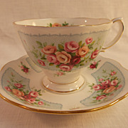 Royal Albert Rosedale Series Manifold Cup and Saucer