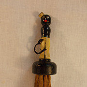 1930�s Black Memorabilia Hotel Porter Clothing Brush by the Rhody Brush Company