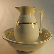 Wallace and Chetwynd Ironstone Pitcher and Wash Basin