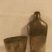 19th Century Pewter Flask