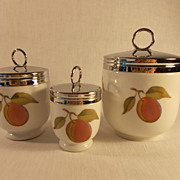 Royal Worcester Evesham Egg Coddlers in Three Sizes