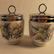 A Pair of Royal Worcester Woodland Egg Coddlers
