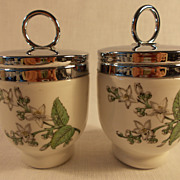 A Pair of Royal Worcester Valencia Egg Coddlers