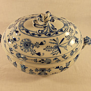 Meissen Blue Onion Covered Soup Tureen