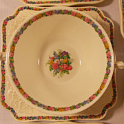 23 Pieces of Crown Ducal Gainsborough Cream Soup Bowl and Plates