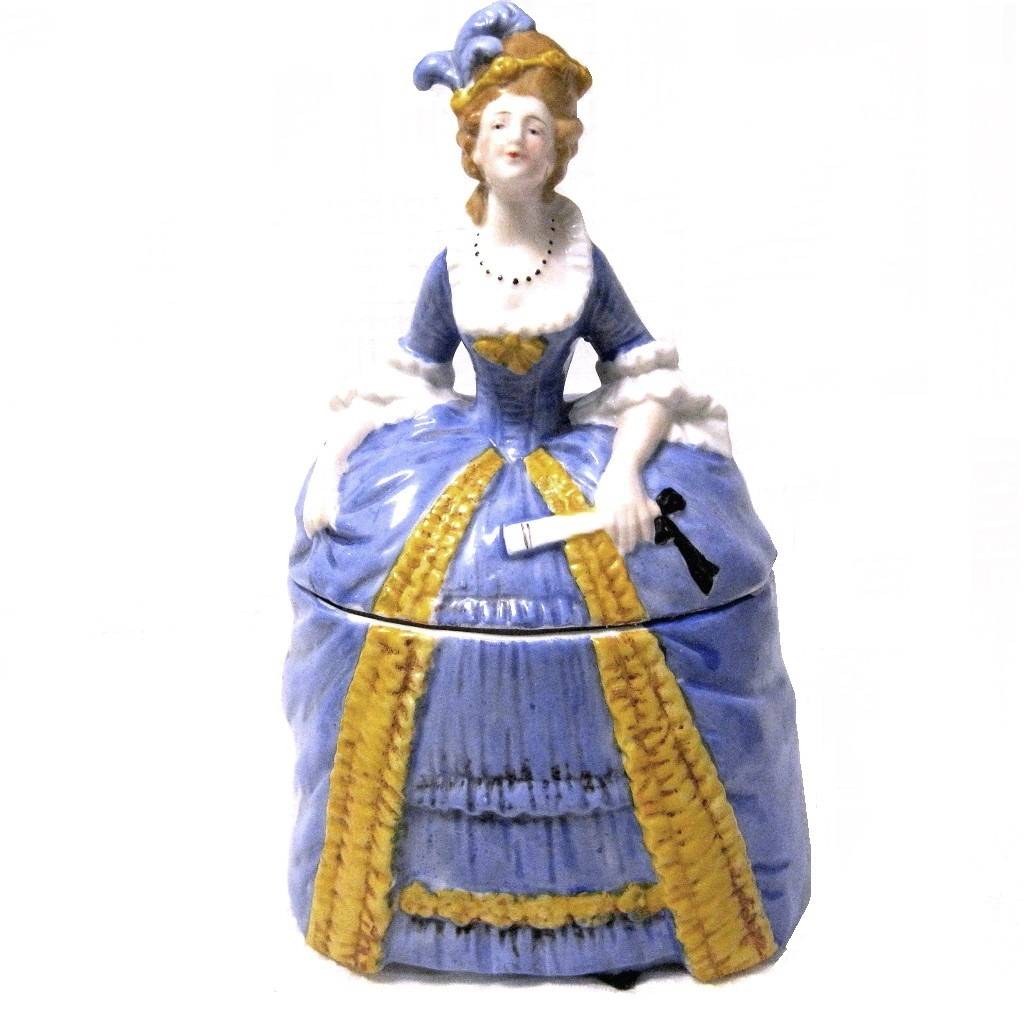 German porcelain Lady Powder Jar, Sitzendorf