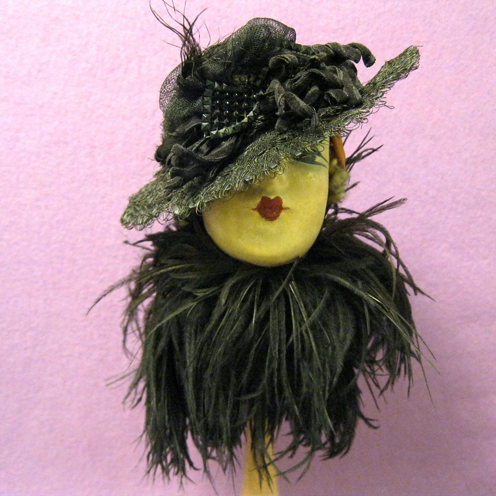 Vintage Doll Hat, Victorian Ornament