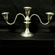 Gorham Sterling Three Light Candelabra