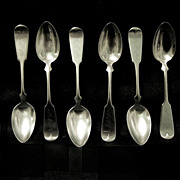SALE PENDING Six Wallace Sterling Spoons, TIPPED Pattern, JFK Monogram