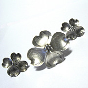 Stuart Nye Sterling Pin / Earrings Set