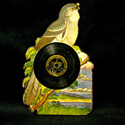 1918 Child's Talking Book Record, Die-cut Mocking bird