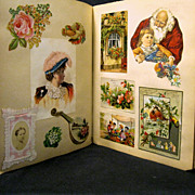 62 Page Large Victorian Scrapbook, 400 Pieces